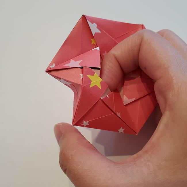 ぷくぷく星の折り紙 星型の箱の折り方作り方②完成(32)