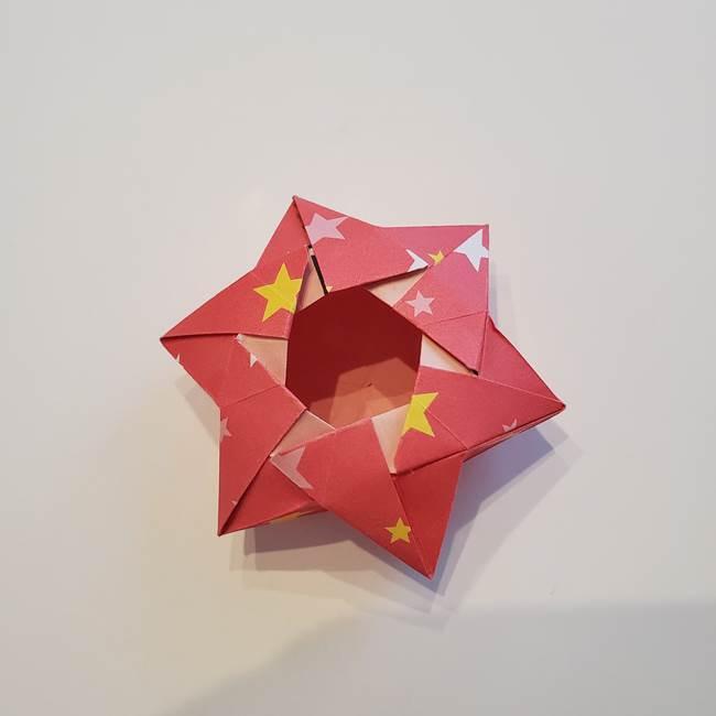 ぷくぷく星の折り紙 星型の箱の折り方作り方②完成(33)