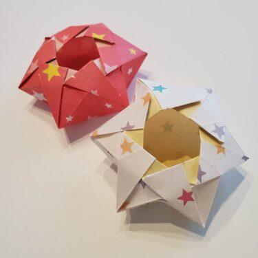 ぷくぷく星 折り紙でつくる星型の箱☆小物入れにもなる折り方作り方