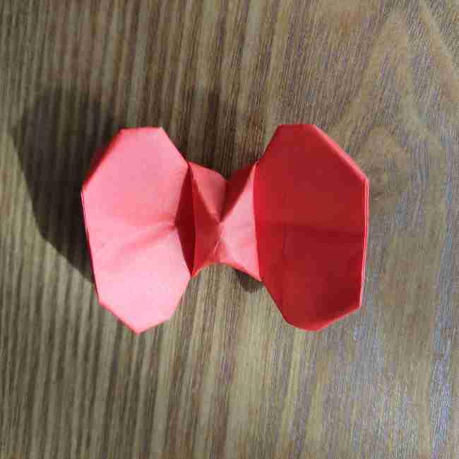キティちゃんのリボン 折り紙の折り方作り方 (18)