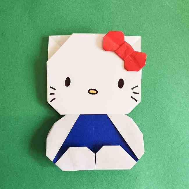 キティちゃんの全身(顔・体)の折り方作り方 (26)