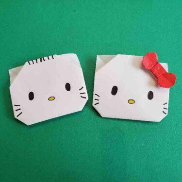キティとダニエルの折り紙はお雛様にも!かわいいカップルを飾ろう♪