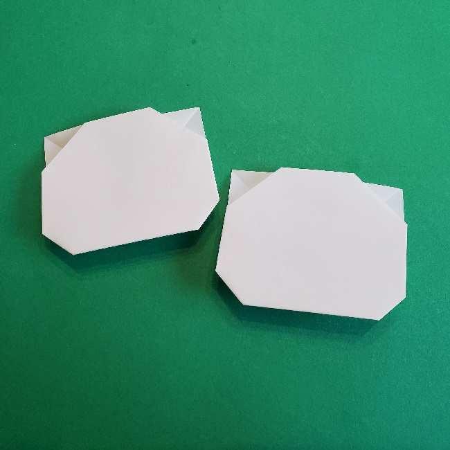 サンリオ キティのパパとママの折り紙*折り方作り方①顔 (11)