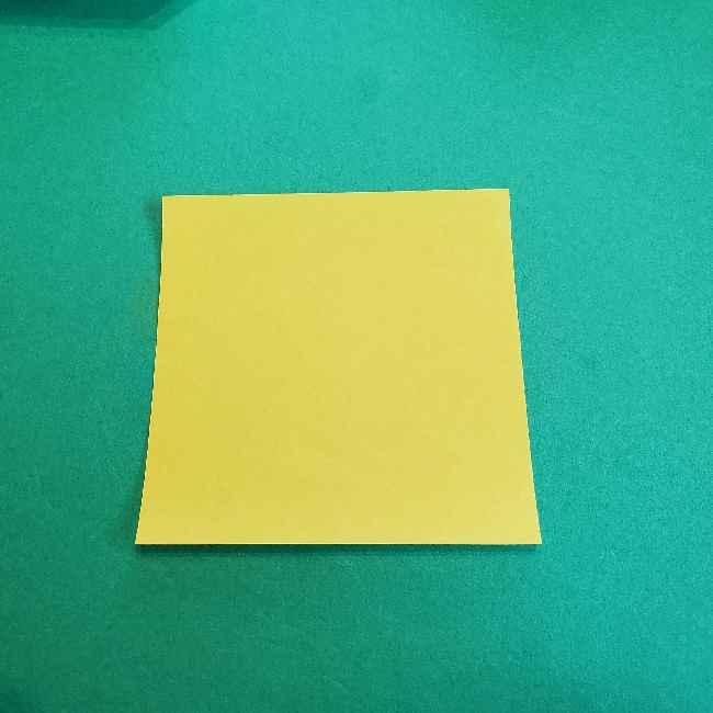 サンリオ キティのパパとママの折り紙*折り方作り方②ママの帽子 (1)
