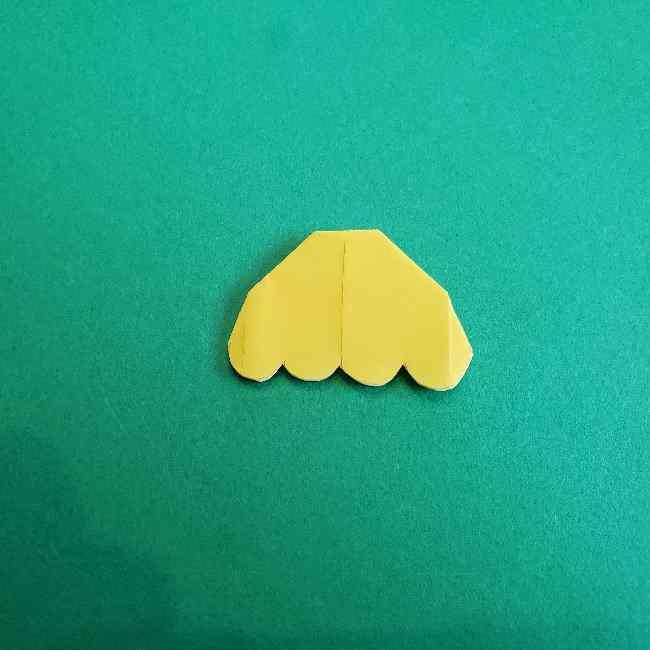 サンリオ キティのパパとママの折り紙*折り方作り方②ママの帽子 (10)