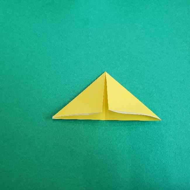 サンリオ キティのパパとママの折り紙*折り方作り方②ママの帽子 (4)