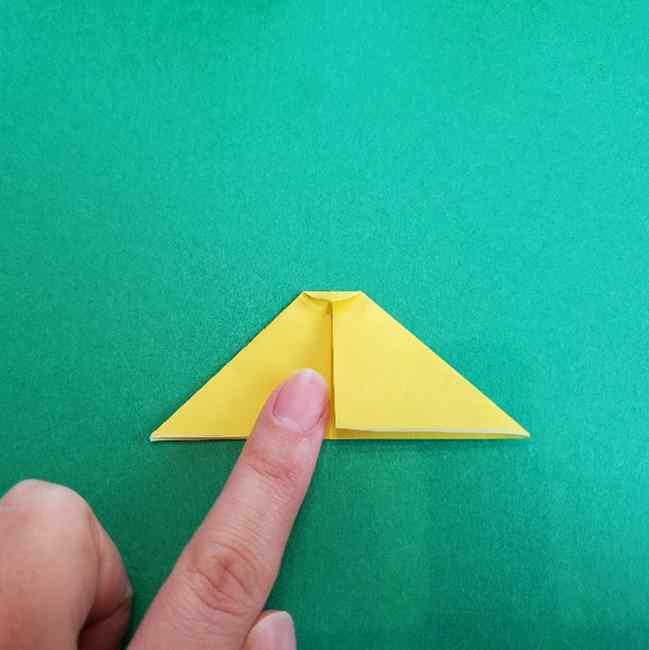 サンリオ キティのパパとママの折り紙*折り方作り方②ママの帽子 (5)