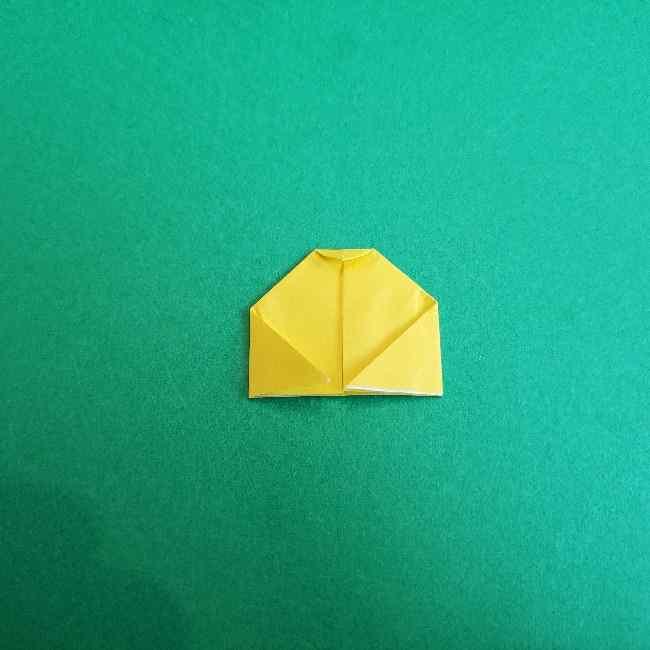 サンリオ キティのパパとママの折り紙*折り方作り方②ママの帽子 (6)