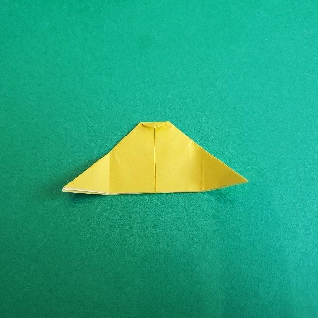 サンリオ キティのパパとママの折り紙*折り方作り方②ママの帽子 (7)