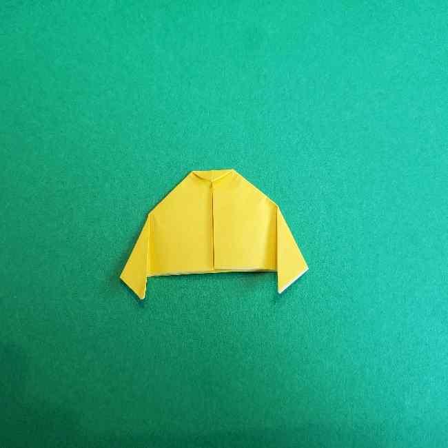 サンリオ キティのパパとママの折り紙*折り方作り方②ママの帽子 (8)