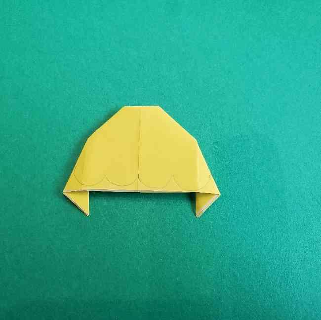 サンリオ キティのパパとママの折り紙*折り方作り方②ママの帽子 (9)
