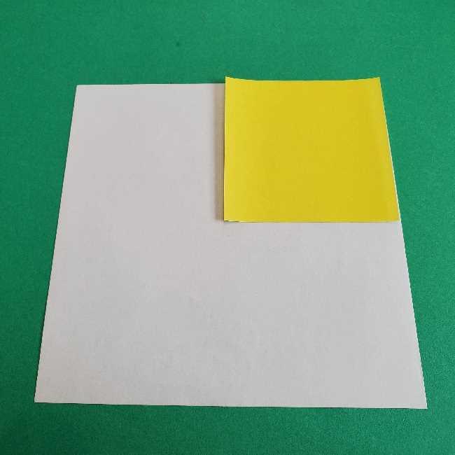 サンリオ キティのパパとママの折り紙*用意するもの (1)