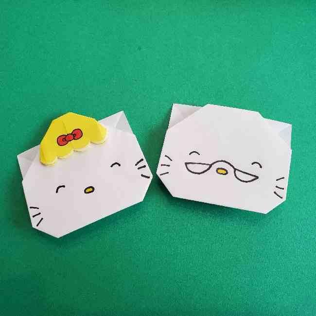 サンリオ キティのパパとママの折り紙|簡単な折り方作り方で作れるキャラクター