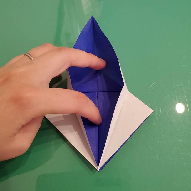ザシアンの折り紙の折り方★顔パーツ①(15)