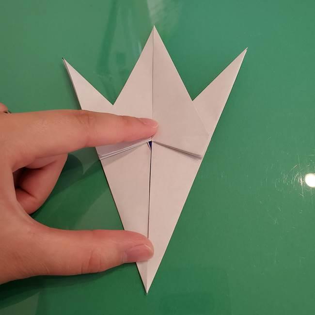 ザシアンの折り紙の折り方★顔パーツ①(27)