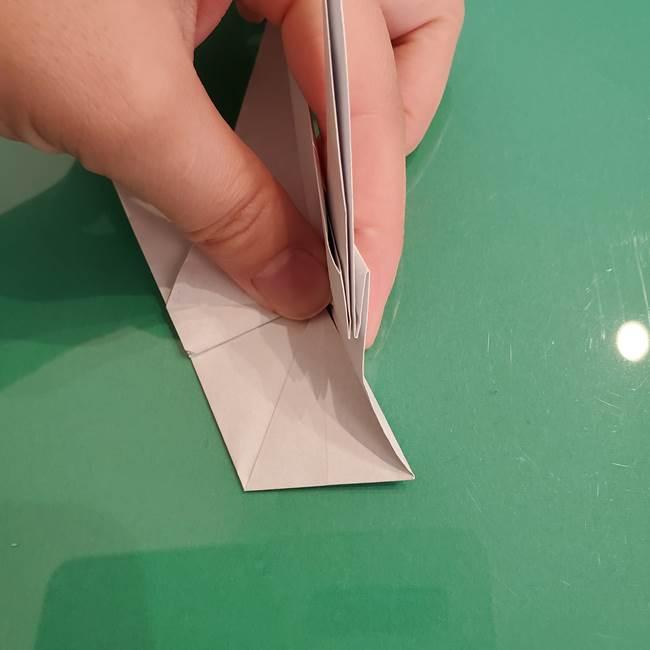 ザシアンの折り紙の折り方★顔パーツ①(29)