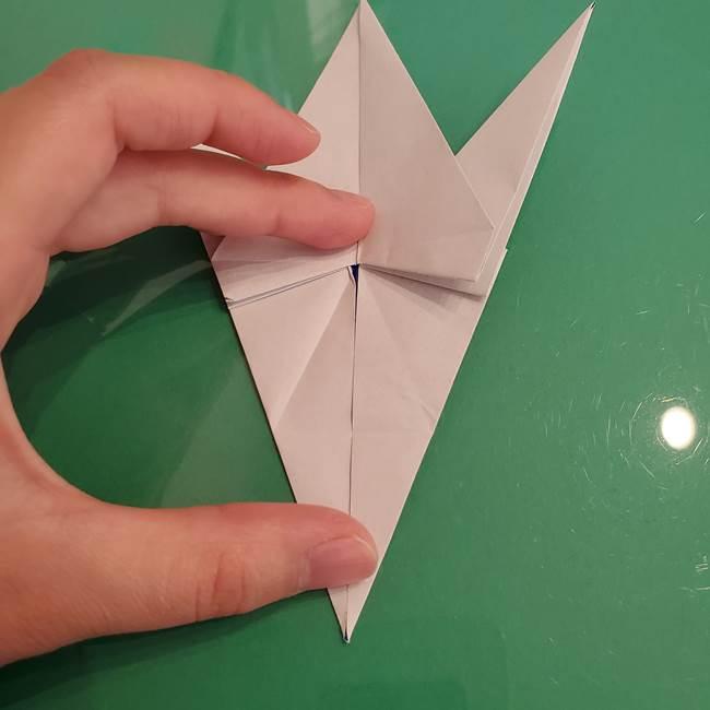 ザシアンの折り紙の折り方★顔パーツ①(31)