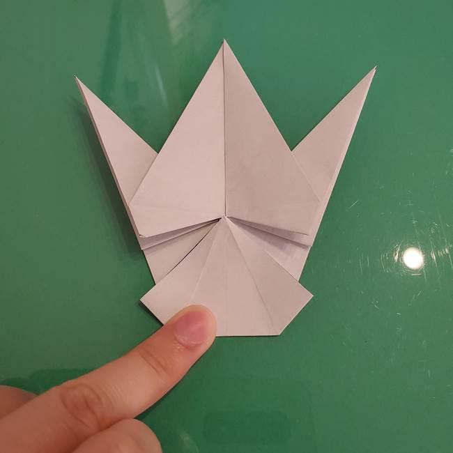 ザシアンの折り紙の折り方★顔パーツ①(33)