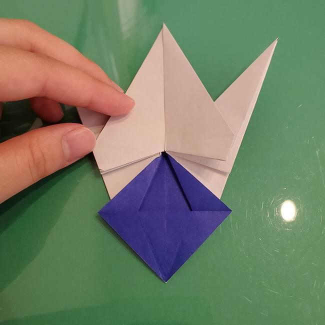 ザシアンの折り紙の折り方★顔パーツ①(34)