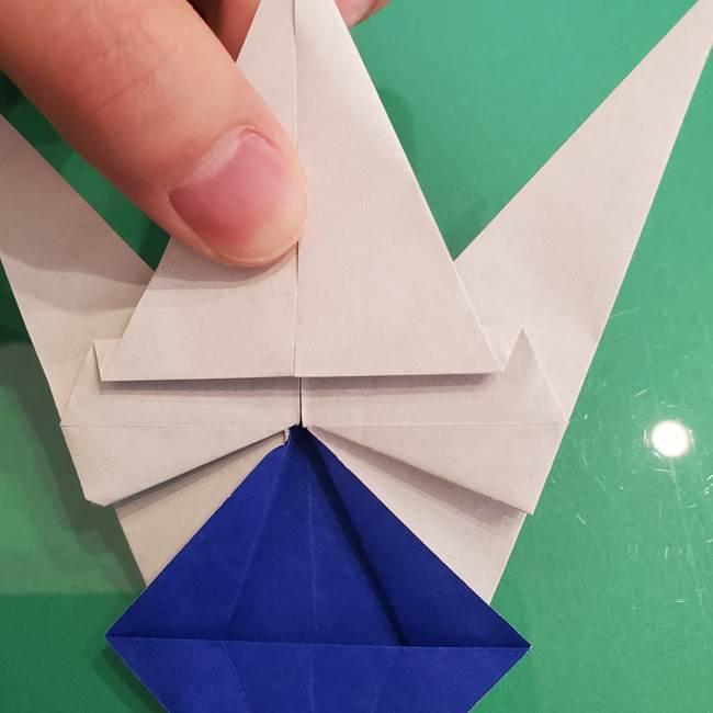 ザシアンの折り紙の折り方★顔パーツ①(36)