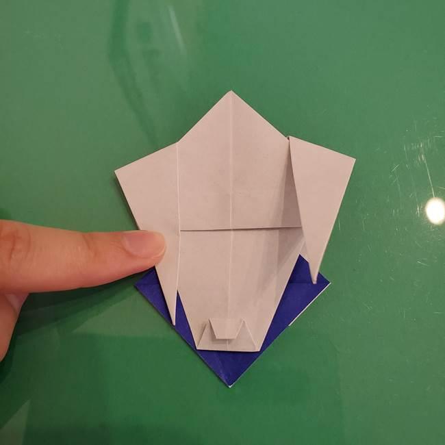 ザシアンの折り紙の折り方★顔パーツ①(41)