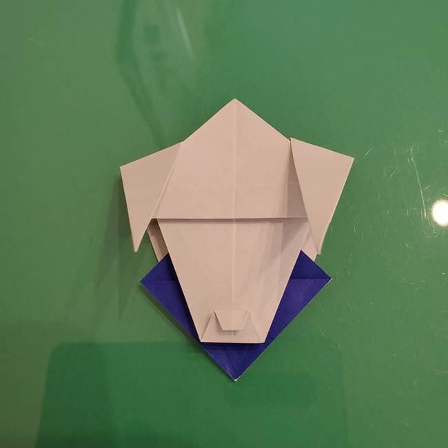 ザシアンの折り紙の折り方★顔パーツ①(42)