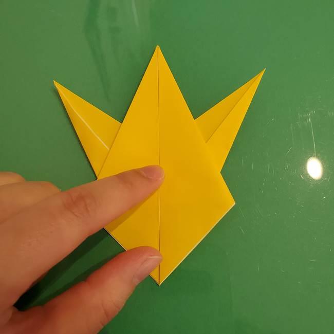 ザシアンの折り紙の折り方★顔パーツ②(22)
