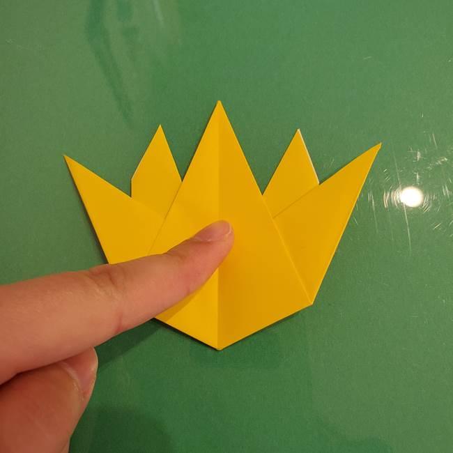 ザシアンの折り紙の折り方★顔パーツ②(25)