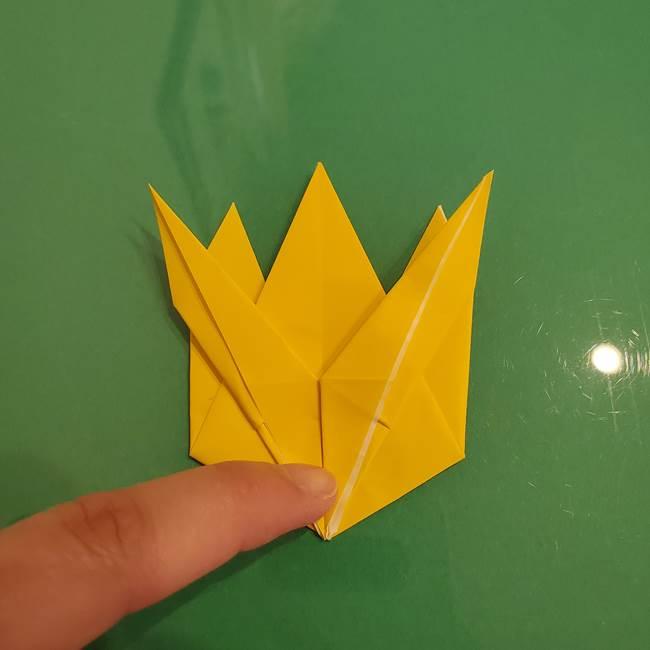ザシアンの折り紙の折り方★顔パーツ②(26)