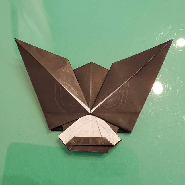 ザルードの折り紙☆ポケモンの折り方作り方②描き方(1)