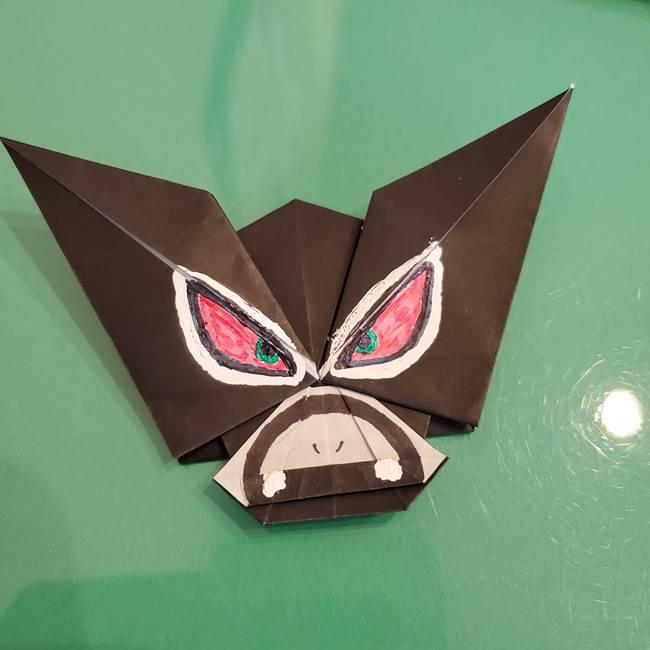 ザルードの折り紙☆ポケモンの折り方作り方②描き方(3)