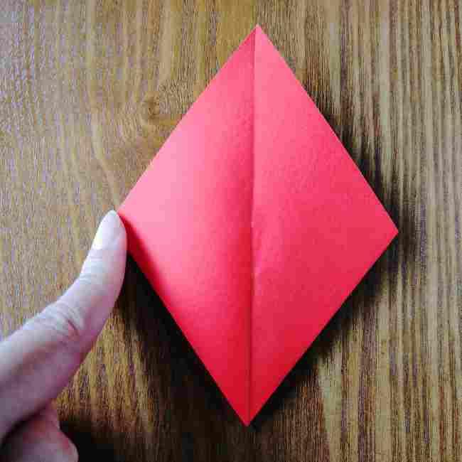ハートキティの折り紙の作り方折り方 (10)