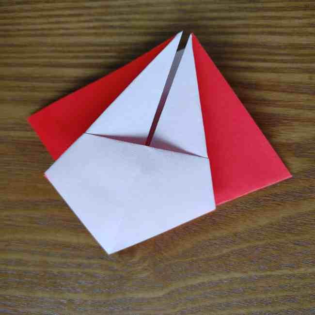 ハートキティの折り紙の作り方折り方 (12)