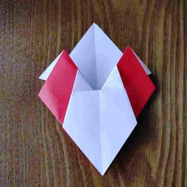 ハートキティの折り紙の作り方折り方 (13)