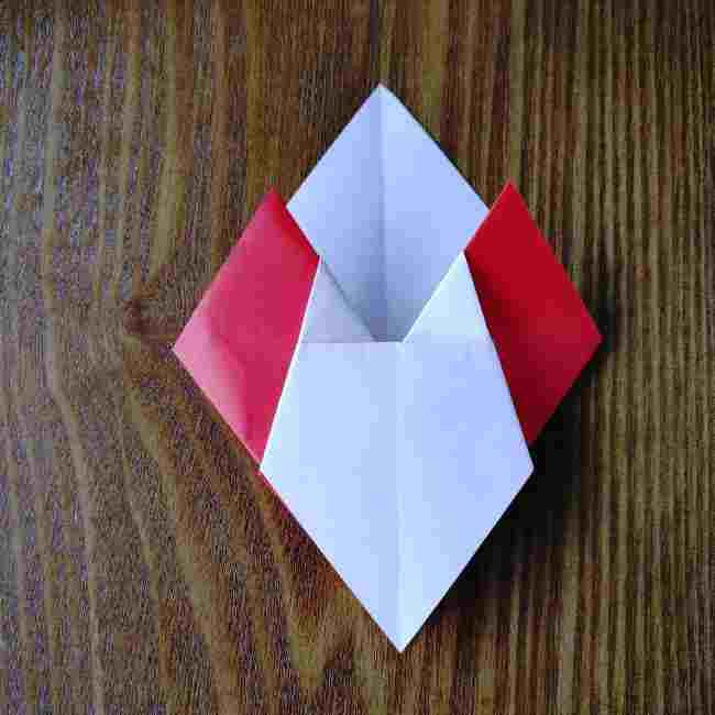 ハートキティの折り紙の作り方折り方 (14)