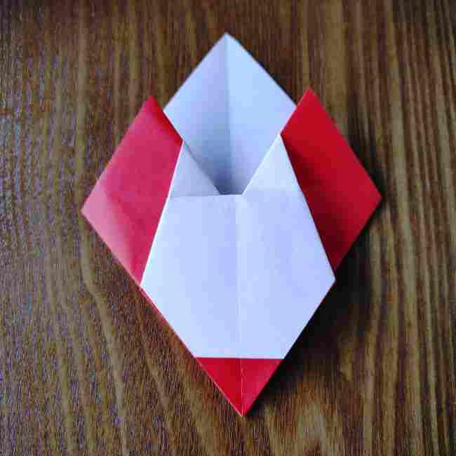 ハートキティの折り紙の作り方折り方 (15)