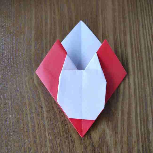 ハートキティの折り紙の作り方折り方 (16)