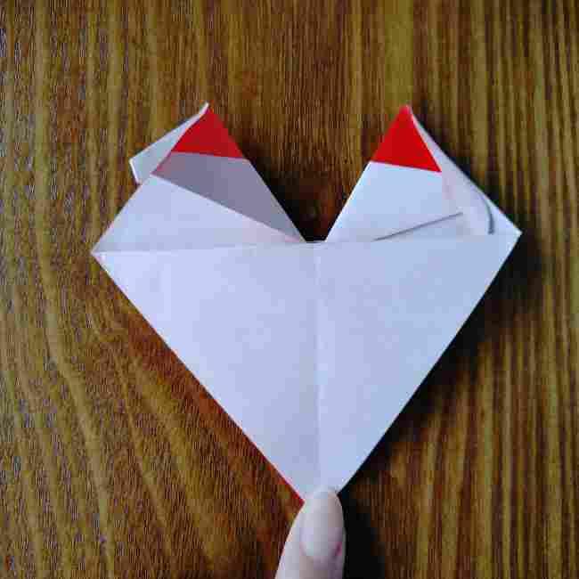 ハートキティの折り紙の作り方折り方 (17)