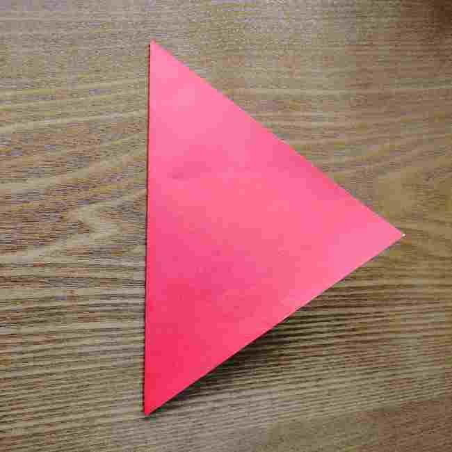 ハートキティの折り紙の作り方折り方 (2)