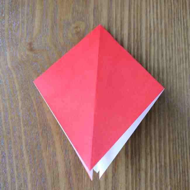 ハートキティの折り紙の作り方折り方 (6)