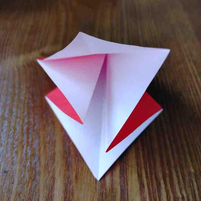 ハートキティの折り紙の作り方折り方 (7)