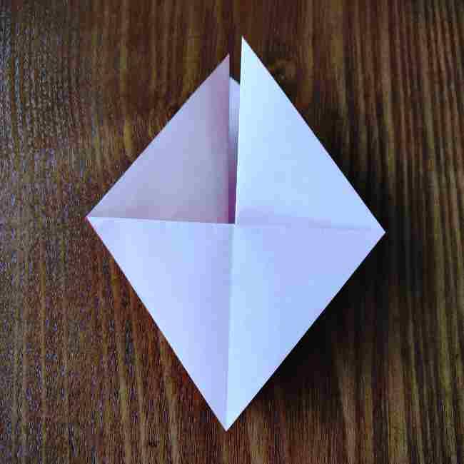 ハートキティの折り紙の作り方折り方 (8)