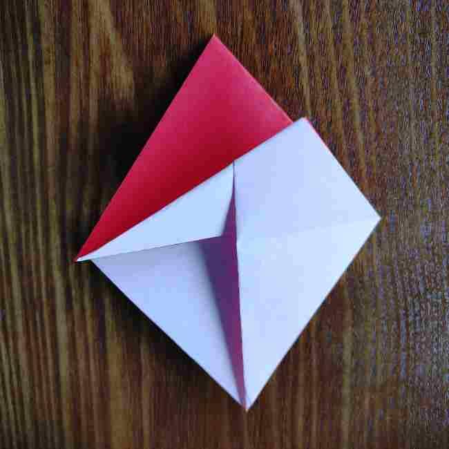 ハートキティの折り紙の作り方折り方 (9)