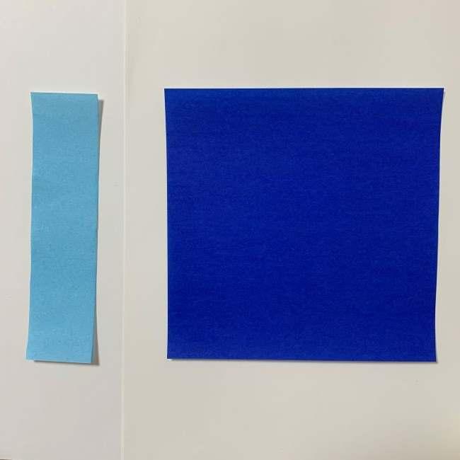 バイキンマンの折り紙は簡単♪用意するものは?