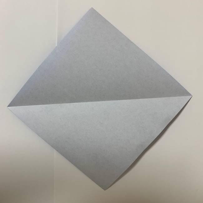 バイキンマンの折り紙 簡単な折り方作り方 (1)