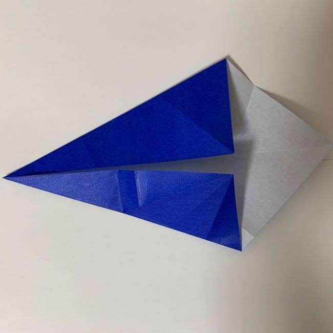 バイキンマンの折り紙 簡単な折り方作り方 (10)