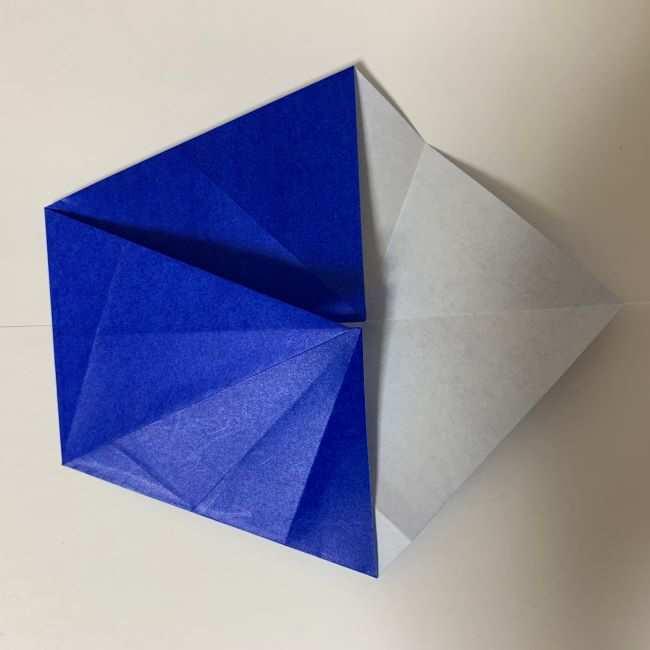 バイキンマンの折り紙 簡単な折り方作り方 (11)
