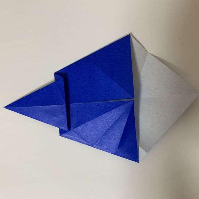 バイキンマンの折り紙 簡単な折り方作り方 (13)