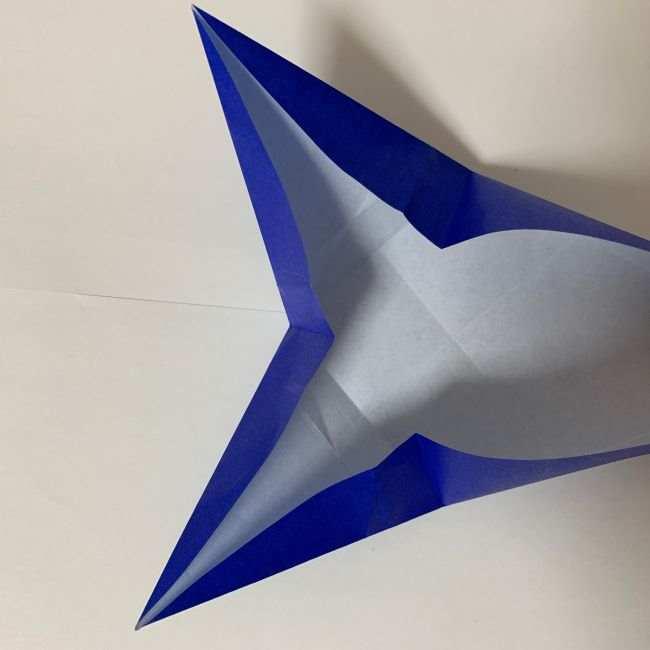 バイキンマンの折り紙 簡単な折り方作り方 (15)