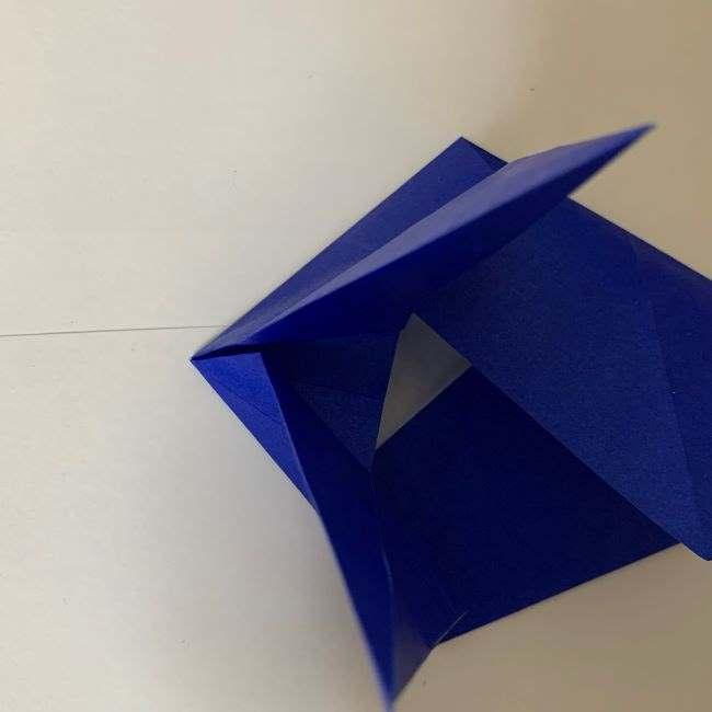 バイキンマンの折り紙 簡単な折り方作り方 (16)